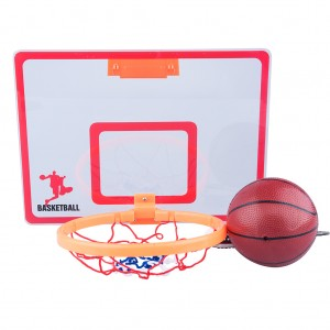 Kids Wall-Mount Basketball Hoop Outdoor Toy Set