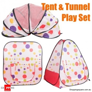 Kids Pop Up Tent Tunnel Playhouse Indoor Outdoor Toy