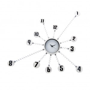 Stainless Steel Metal Modern Art Wall Clock Home Decor