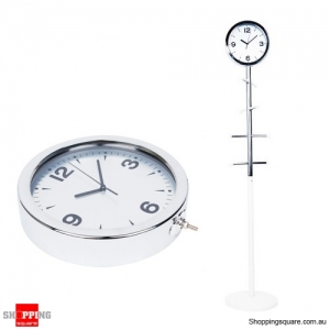 Coat Tree Trendy Metal Art Floor Clock L Size
