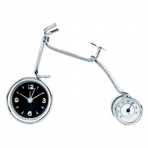 Metal Art Alarm Table Desk Clock-Bicycle Design