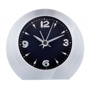Alarm Table Desk Clock Silver Tone Home Decor