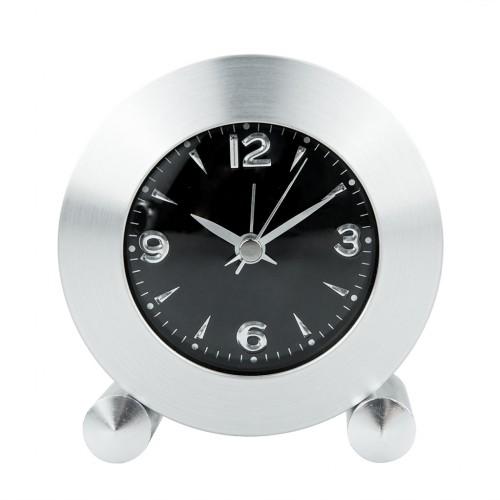 Aluminum Creative Round Alarm Table Clock