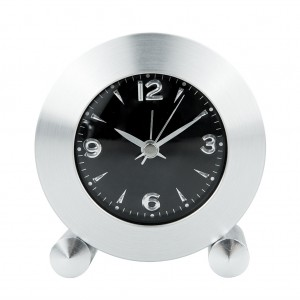 Aluminum Creative Round Alarm Table Clock
