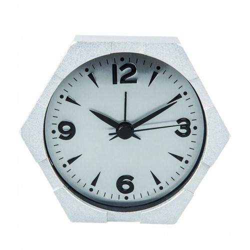 Inspired Hexagon Design Metal Craft Alarm Table Clock