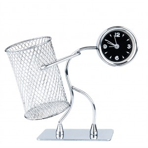 Wrought Iron Doll Style Alarm Table Clock