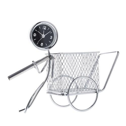 Alarm Table Desk Clock Metal Art Home Decor