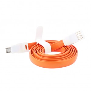 1M USB to Micro USB Cable for Android - Orange
