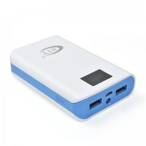 7800mAh Portable External Power Bank Backup Battery Charger - Blue
