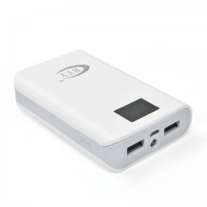 7800mAh Portable External Power Bank Backup Battery Charger Gray
