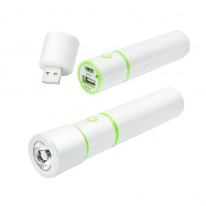 2600mAh Portable USB Power Bank with LED Flashlight Torch