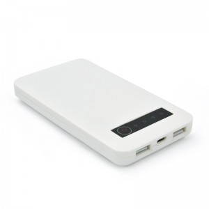 12000mAh Power Bank Dual Port 3.1A USB Portable Charger with LED