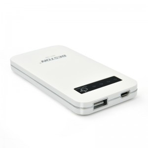 6000mAh External Portable Power Bank Backup Battery Charger White