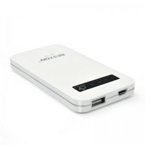 Beston 6000mAh External Portable Power Bank Backup Battery Charger White