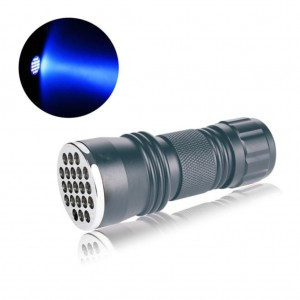 Aluminum 21 LED Pocket Flashlight Torch Lamp Light for Camping Survival