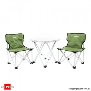 Portable Folding Table and Chairs Set for Camping Beach Party Yard Green Colour