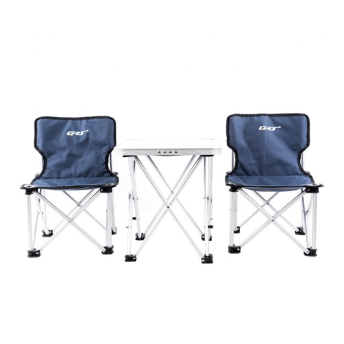 Portable Folding Table and Chairs Set for Camping Beach Party Yard Navy Colour