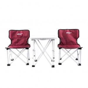 Portable Folding Table and Chairs Set Director's Chair for Camping Beach Party Yard Burgundy Colour