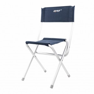 Classic Take-Out Folding Camping Garden Party Yard Beach Chair - Navy