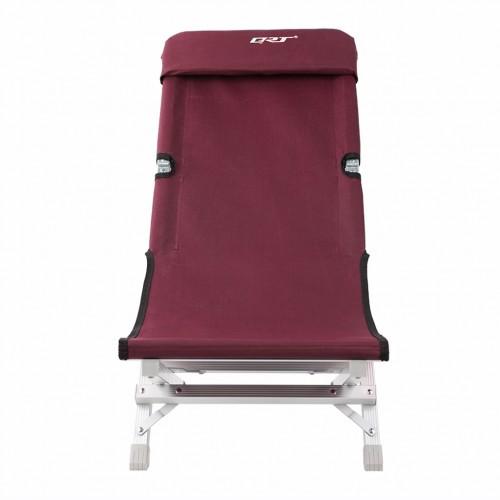 Deluxe Aluminum Folding Outdoor Recliner Chair Camping Gear - Mahogany