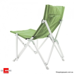 Mid Back Aluminum Folding Camp Chair with Storage Bag - Green