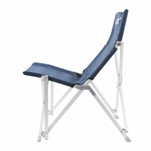 Mid Back Aluminum Folding Camp Chair with Storage Bag - Navy