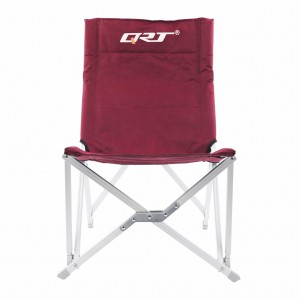 Mid Back Aluminum Folding Camp Chair with Storage Bag - Burgundy