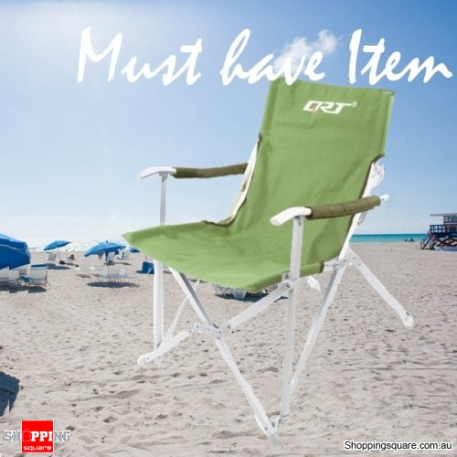 Folding Chair Outdoor Seat for Camping Beach Yard Fishing Party Green Colour