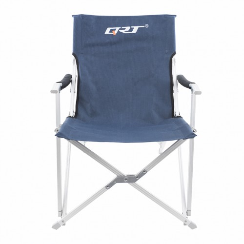 Folding Chair Outdoor Seat for Camping Beach Yard Fishing Party Navy Colour