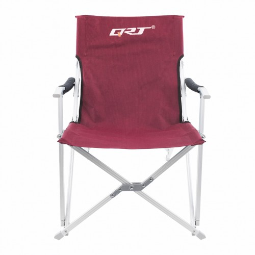 Folding Chair Outdoor Seat for Camping Beach Yard Fishing Party Burgundy Colour