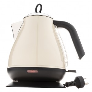 1.7L Deluxe Stainless Steel Electric Cordless Water Kettle - Cream