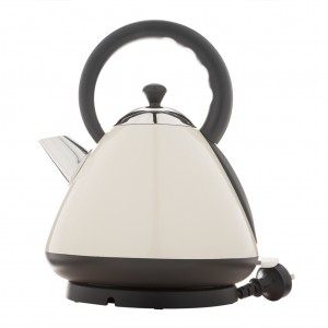 1.7L Deluxe Stainless Steel Electric Cordless Dome Kettle -Cream