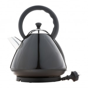 1.7L Deluxe Stainless Steel Electric Cordless Dome Kettle - Black