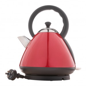 1.7L Deluxe Stainless Steel Electric Cordless Dome Kettle - Red