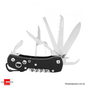 12 in 1 Multifunctional Stainless Steel Pocket Knife Tool for Camping Hiking