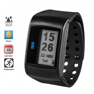Wearable Activity and Sleep Tracker Fitness Smartwatch - Black