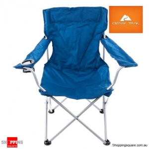 Portable Folding Camping Chair Steel Frame 600D Polyester Turquoise