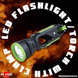High Bright Versatile LED Clamp Flashlight Torch