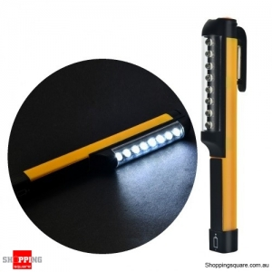 8-LED Mini Pen Light with Pocket Clip