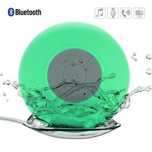 Mini Waterproof Bluetooth Speaker Shower Speaker for iPhone Android - Pear Green