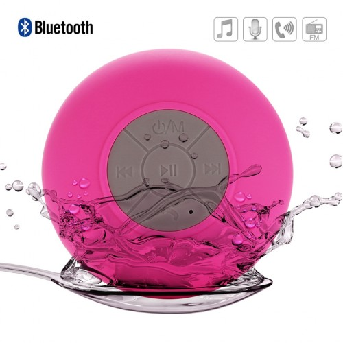 Waterproof Bluetooth Shower Speaker - Pink