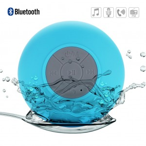 Mini Waterproof Bluetooth Speaker Shower Speaker for iPhone Android - Blue
