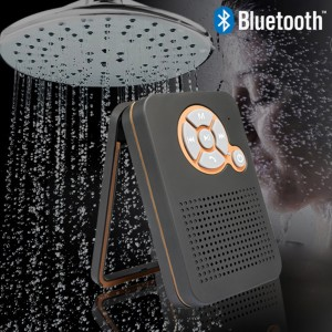 Waterproof Bluetooth Shower Speaker for iPhone Android - Black