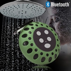 Waterproof Bluetooth Shower Speaker with NFC Tech Stereo Sound - Green