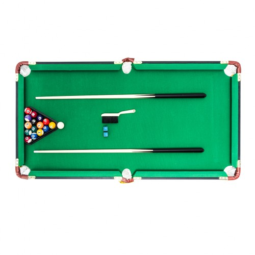 Kids 4ft Foldable Pool Table Billiards Games Table