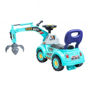 Kids Ride-on Construction/Grab Crane Car Toy - Blue