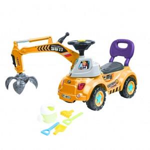 Kids Ride-on Construction/Grab Crane Car Toy -Yellow