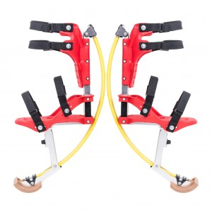 Jumping Stilts Fly Jumper Kangaroo Shoes for Kids - Yellow and Red