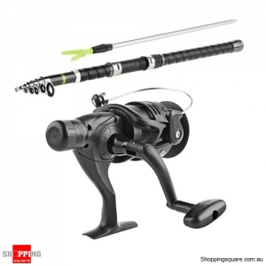 2.7m Portable Telescopic Fishing Rod and Spinning Reel Bundle with Case