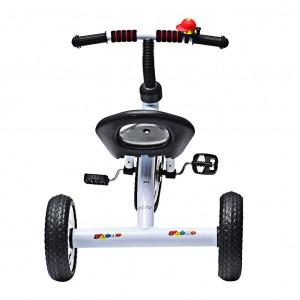 3 Wheel Bike Kids Tricycle Trike with Bell Outdoor Fun White